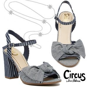 Blue Stripped Eva Block Heel Sandals 9M